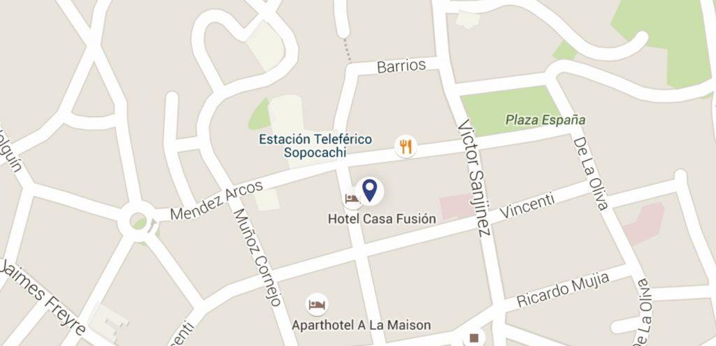casa fusion mapa