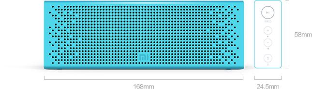 Rozmery reproduktoru Xiaomi Mi Bluetooth (modrý)